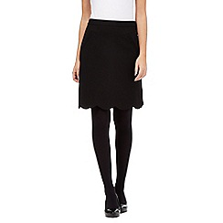 The Collection - Black scalloped hem skirt
