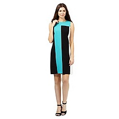 The Collection - Black colour block shift dress