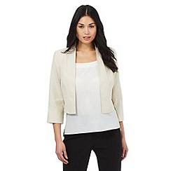 The Collection - Beige linen blend jacket