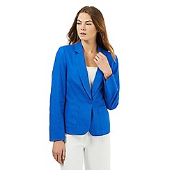 The Collection - Bright blue linen jacket