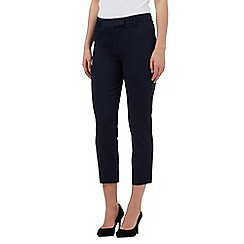 The Collection - Navy cropped sateen trousers