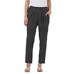 The Collection Petite - Black printed trousers