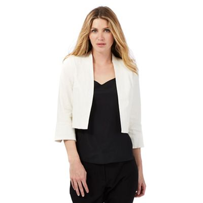 The Collection Ivory linen blend bolero
