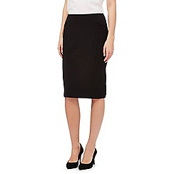 The Collection Petite - Black workwear suit skirt