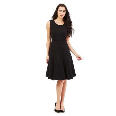 The Collection Petite Black workwear A-line dress