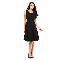 The Collection Petite - Black workwear A-line dress