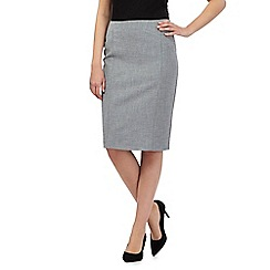 The Collection - Pale grey knee length suit skirt