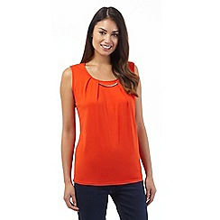 The Collection Petite - Orange bar jersey top