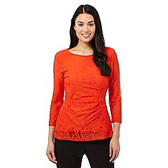 The Collection - Orange rose jersey top