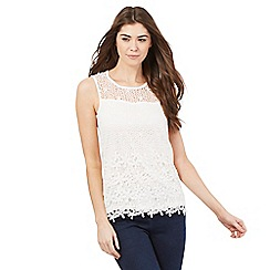 The Collection Petite - White lace shell top