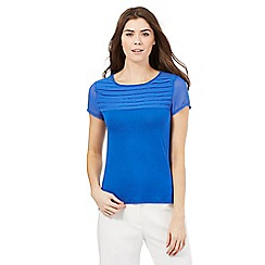 The Collection - Blue pleated top