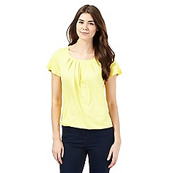 The Collection - Yellow pleated chest top