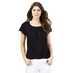 The Collection - Black pleated chest top