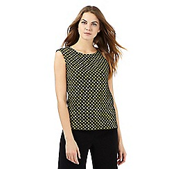 The Collection - Black and yellow patterned sleeveless top