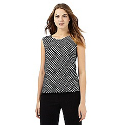The Collection - Black and white patterned sleeveless top