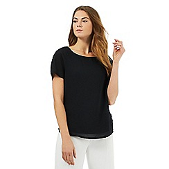 The Collection - Black layered chiffon top