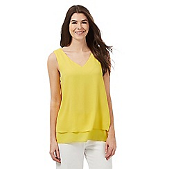 The Collection - Yellow side split double layer top