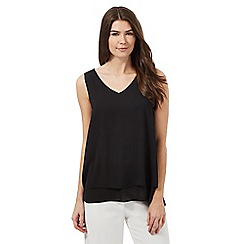 The Collection - Black side split double layer top