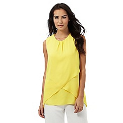 The Collection - Yellow curved layered top
