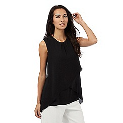The Collection - Black curved layered top