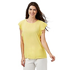 The Collection - Yellow plain frilled top