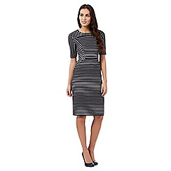 The Collection Petite - Navy striped dress