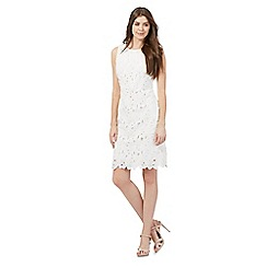 The Collection - Ivory floral lace knee length dress