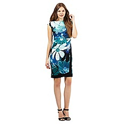The Collection - Turquoise floral print dress