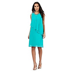 The Collection Petite - Turquoise beaded neck dress