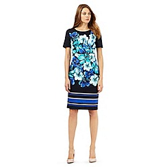 The Collection Petite - Navy floral print dress