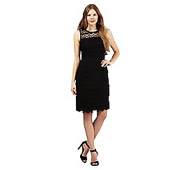 The Collection - Black lace overlay scalloped dress