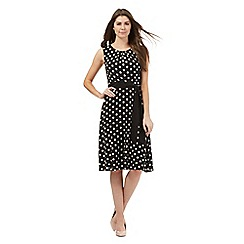 The Collection Petite - Black spot print sleeveless dress