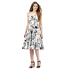 The Collection - White sketch rose print prom dress