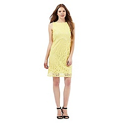 The Collection - Yellow lace overlay dress