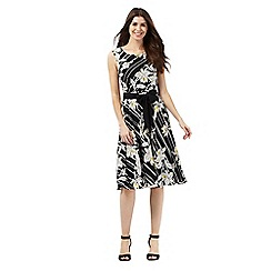 The Collection - Black striped floral print dress