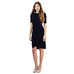 The Collection - Navy ruched ring waist dress