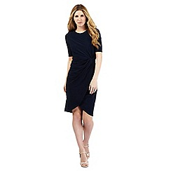 The Collection - Navy tie knot jersey dress