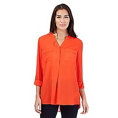 The Collection Petite - Orange cut out detail top