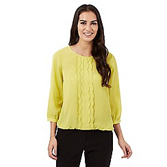 The Collection - Lime scalloped front top