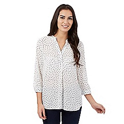 The Collection - Cream polka dot top