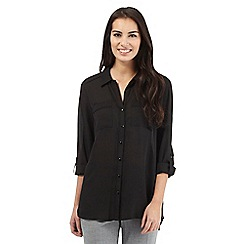 The Collection - Black button shirt