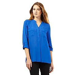 The Collection - Bright blue two pocket shirt