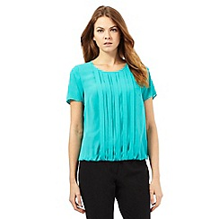 The Collection Petite - Turquoise pleated top