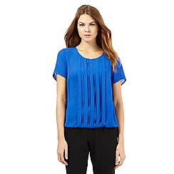 The Collection - Bright blue pleated top