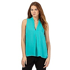 The Collection Petite - Green sleeveless V neck top