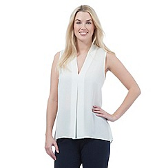 The Collection - Ivory sleeveless v neck top