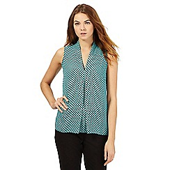 The Collection - Turquoise circle print sleeveless top