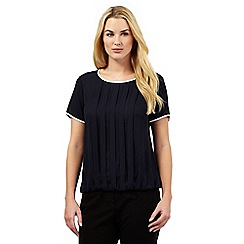 The Collection Petite - Navy pin tuck top