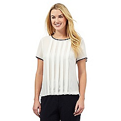 The Collection - Ivory pin tuck top