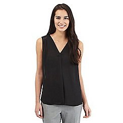 The Collection - Black sleeveless pleated top